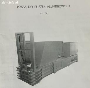Automatyczna prasa do puszek aluminiowych PP 80