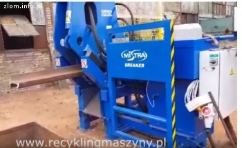 Maszyna do łamania szyn kolejowych
