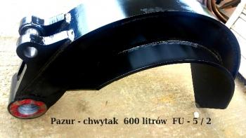 Nowy pazur do chwytaka 600 litrów FS