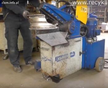 Nożyce do cięcia felg aluminiowych - recykling felgi AL