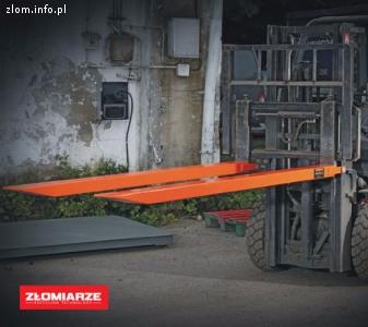 Przedłużka do wideł wózka widłowego 140 / 80 / 2400 mm.