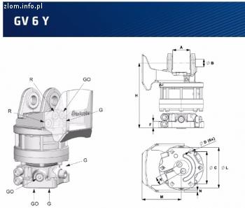 Rotator obrót Indexator GV 6