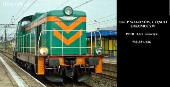 Skup wagonów, części kolejowych i lokomotyw