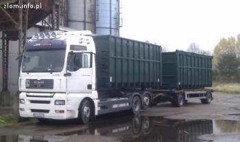 Usługi transporowe hakowiec, kontener, złom odpady
